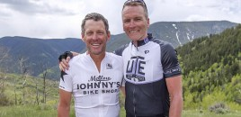 Lance Armstrong hits out at his critics in cycling as he returns to France on a cancer charity ride with Geoff Thomas: I'm the one everybody wants to pretend never lived