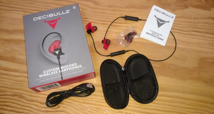 DECIBULLZ CUSTOM-FIT BLUETOOTH WIRELESS EARPHONES