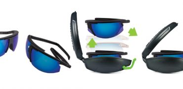 POPTICALS folding sunglasses with a protective case